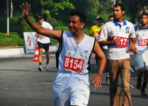 Yasho Saboo at a half-marathon