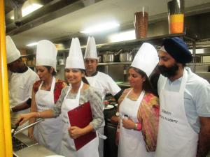 Executive Sous Chef Kapil Dubey and other participants at Westin Culinary Academy