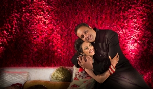 Mayank Jalan and Parvana Babaycon's wedding reception was designed by Varun Bahl