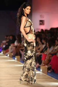 Backless choli by Monisha Jaising
