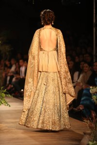 Backless wedding ensemble by Sabyasachi Mukherjee