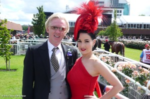 Philip Treacy with Dita Von Teese wearing his creation