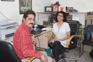 (L-R) Sunny Sharma and Poonam Nanda
