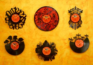 Vinyl record clocks by WorkshopQ