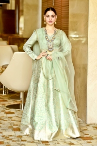 Tamannaah Bhatia in a Raw Mango lehenga and Amrapali Jewels 1