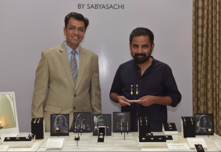 Sachin Jain, President - Forevermark India & Sabysachi Mukherjee at Forevermark Zanyah Collection Launch