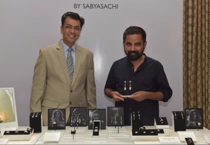 Sachin Jain, President - Forevermark India & Sabysachi Mukherjee at Forevermark Zanyah Collection Launch